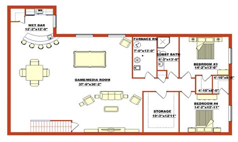 walkout bungalow floor plans finished walkout basement house plans finished walk out