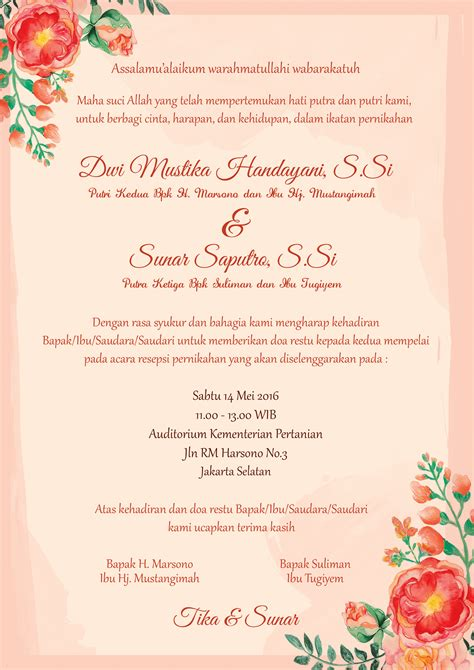 Wedding Undangan by The Wedding Journal Desain Undangan Dan Wedding
