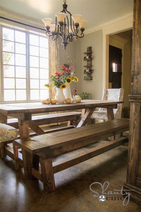 dining room table with benches diy how to build bench for dining room plans free