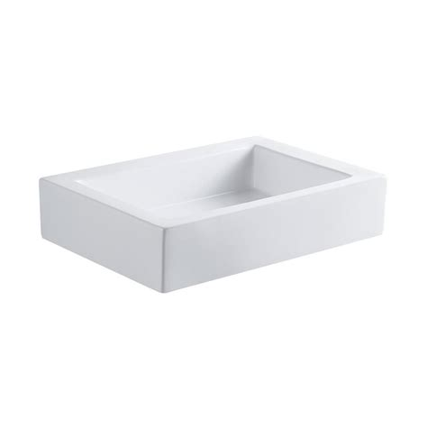 rectangular vessel bathroom sink shop elements of design pacifica white vessel rectangular