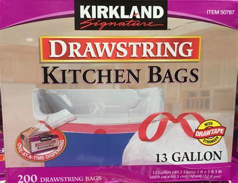 Kirkland Kitchen Bags by Kirkland Drawstring Kitchen Bags Harvey Cares
