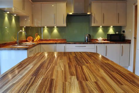 kitchen island worktop wooden work surfaces feature in our new customer kitchens