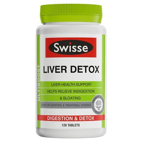 Top Liver Detox Products by Best Price Swisse Ultiboost Liver Detox 120 Tablets