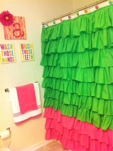 ruffle shower curtain etsy 1000 ideas about ruffle shower curtains on pinterest