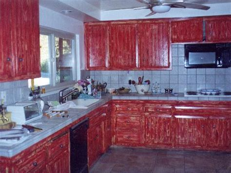 red cabinets kitchen attic bedroom paint ideas barn red painted kitchen