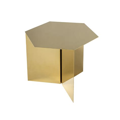 Hay Side Table Buy Hay Slit Table Hexagon Brass Amara