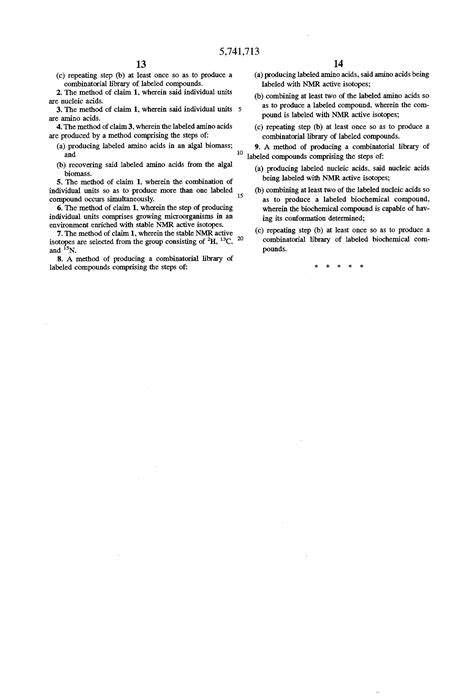Bio Chemical patent us5741713 combinatorial libraries of labeled