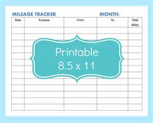 mileage tracker template mileage tracker form printable printable mileage tracker