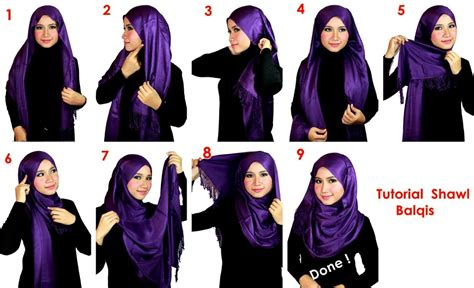 tutorial hijab pashmina hitam cara pakai hijab shawl with hijab tutorial hijabiworld