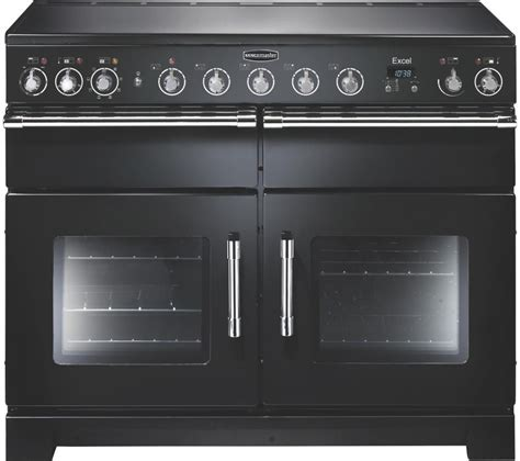 induction cooker rangemaster buy rangemaster excel 110 induction range cooker black chrome free delivery currys