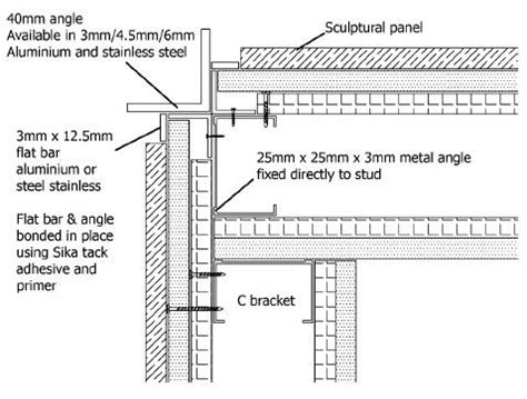 stone veneer wall section stone wall section detail detail drawings pinterest