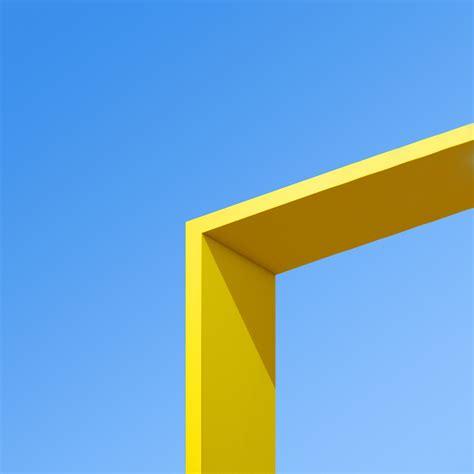 wallpaper architecture blue sky yellow minimal htc