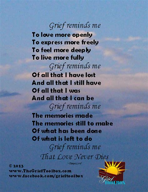 poems for comforting a friend that is grieving grief reminds me a poem the grief toolbox