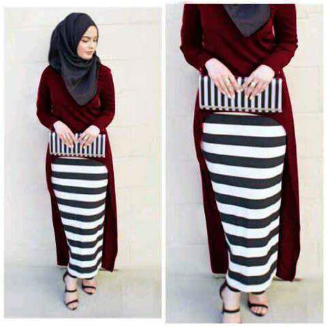 Baju Muslim Warna Merah baju muslim setelan 3in1 model terbaru murah