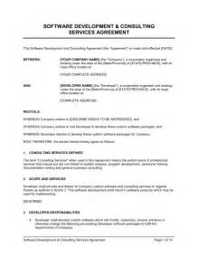 Software As A Service Contract Template by Software Development And Consulting Services Agreement
