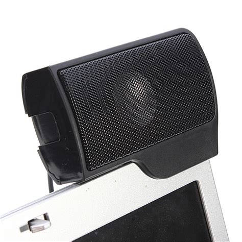 Speaker Mini Notebook mini usb stereo speaker sound bar clip for notebook laptop phone pc with clip