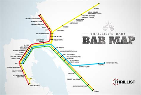san francisco nightlife map best bars near every bart stop sf oakland bay area