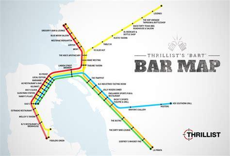 houston map bars best bars near every bart stop sf oakland bay area