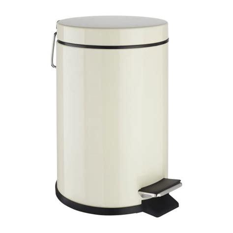 habitat poubelle cuisine detroit poubelle ronde 3l en acier blanc mat habitat