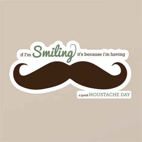 How To Make A Paper Moustache - quot moustache day quot sticker genius