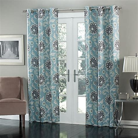 grommet style curtains m style ankara 84 inch grommet top window curtain panel