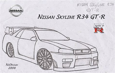 370z Coloring Page by Nissan Skyline Drawings Www Pixshark Images