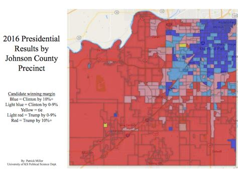 Johnson County Detox by Results Of 2016 Election Show Interstate 435 The Clear