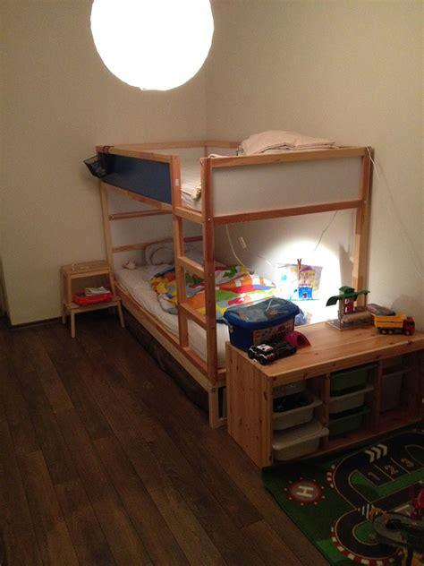 ikea kura double bunk bed extra hidden bed sleeps  ikea hackers