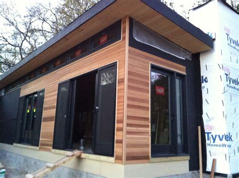 house with cedar siding custom prefabricated modern house johnston contracting services
