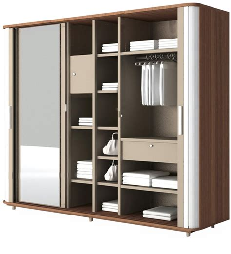 Wardrobes On Line by Hyacinth Wardrobe In Cincinnati Walnut Finish By Godrej