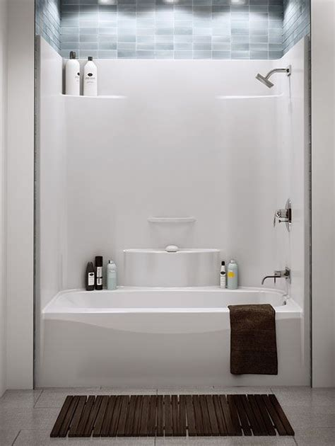 one piece acrylic bathtub shower pinterest