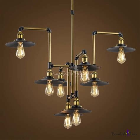 Industrial Style Chandelier Industrial Style 8 Light Large Led Pendant Chandelier Commercial Coffee Bar Lighting Fixture