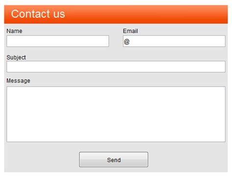 best photos of contact form template contact information