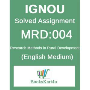 Mba In Rural Development From Ignou by Mrd 4 Solved Assignment Bookskart4u