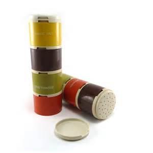Stackable Spice Jars Tupperware Spice Jars Vintage 70s Stackable Portable Spice
