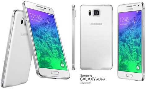 samsung galaxy alpha white gf dazzling white samsung galaxy alpha phone images