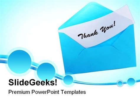animated thank you templates for ppt thank you images for ppt blue envelope with thank you
