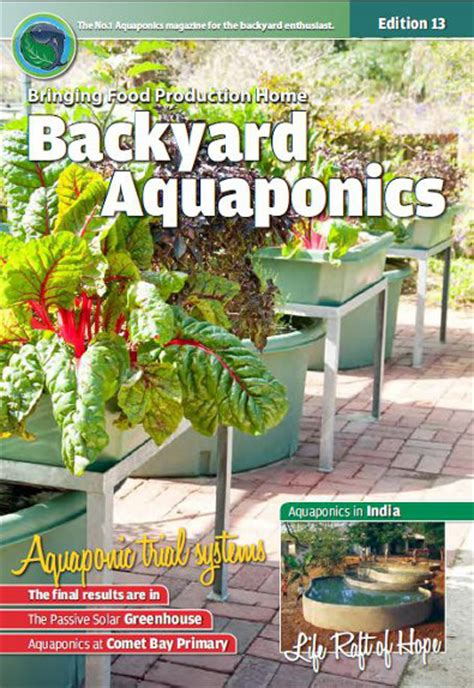 backyard aquaponics emagazine edition 13 backyard