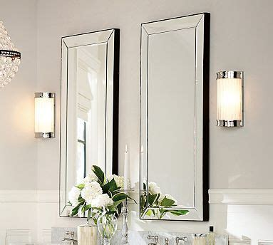 bathroom mirrors radiance scallop top frameless with or 56 best images about master bathroom on pinterest double