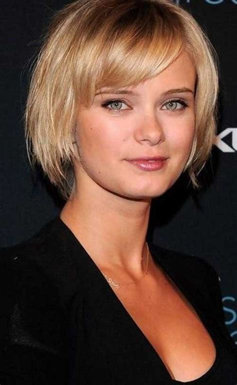 haircuts for fine straight hair round face 15 short straight hairstyles for round faces short