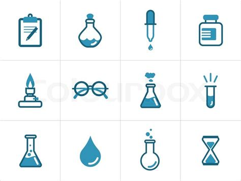 new powered by articlems from articletrader life science science icons stock vector colourbox