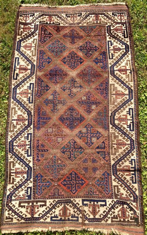 unusual rugs baluch rug with unusual cruciform design