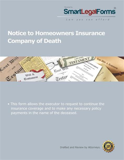 house insurance when someone dies notice to homeowners insurance company of death