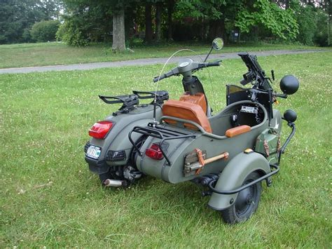 50ccm Motorrad Mit Beiwagen by Vespa Sidecar Military Scooter S With Sidecars