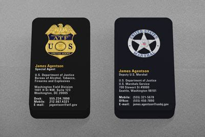 dhs business card template federal enforcement business cards kraken design