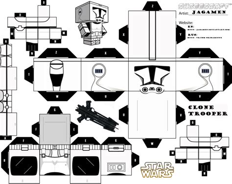 Papercraft Black And White - clone trooper cubeecraft by jagamen on deviantart