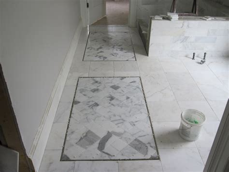 Marble Tile Bathroom Floor Master Bathroom Marble Tile Floor