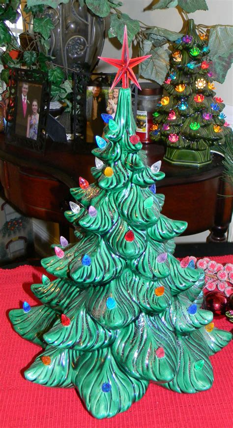 ceramic christmas tree old fashioned by enchantdmushroomland