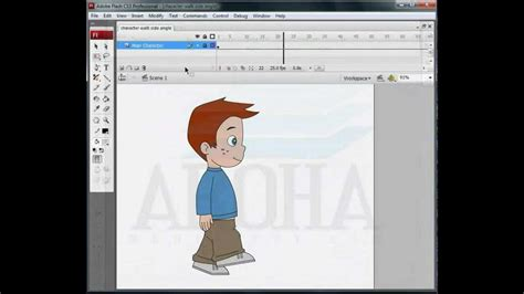 tutorial flash walk cycle flash character walk cycle animation youtube
