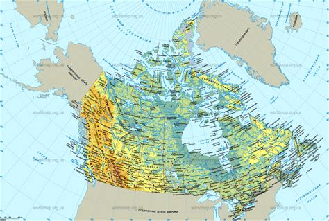 a physical map of canada map of canada canada maps mapsof net